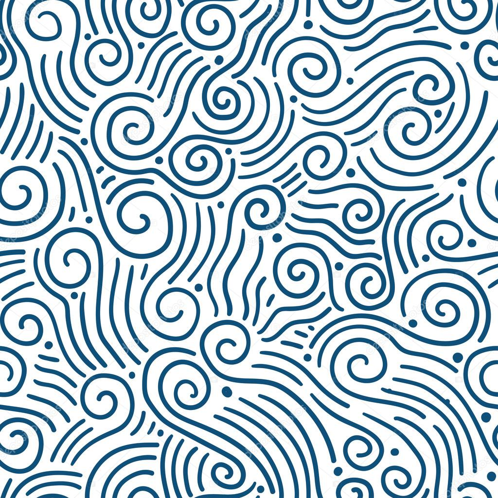 Hand-drawn aves seamless pattern