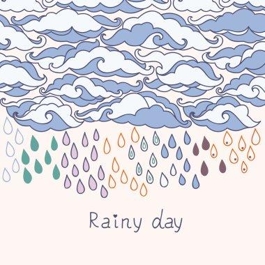 Doodle rain background