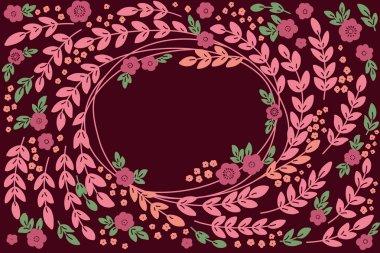Floral vintage banner