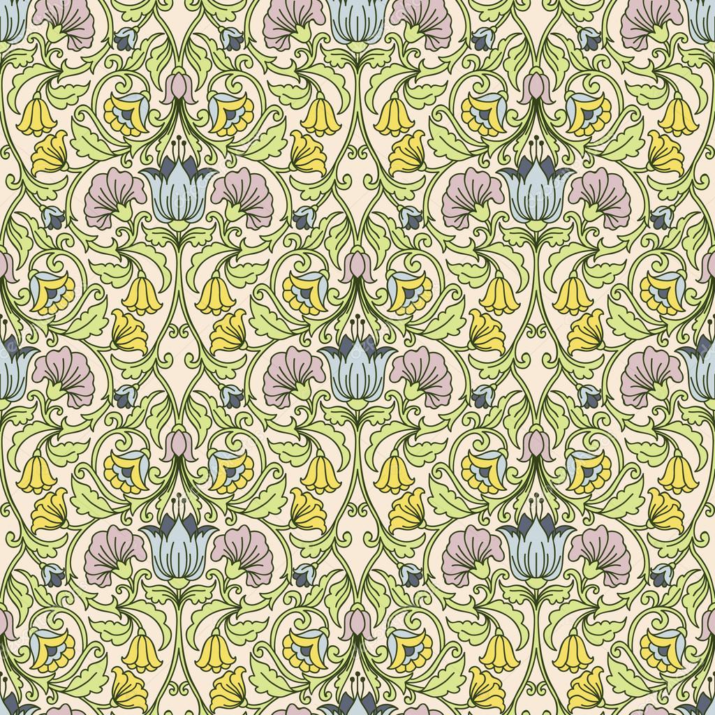 Vintage Floral Desktop Wallpaper Floral Vintage Seamless Pattern
