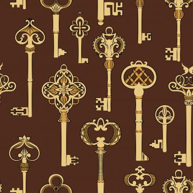 Pattern with antique keys