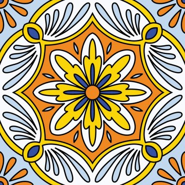 Ornamental  tile background