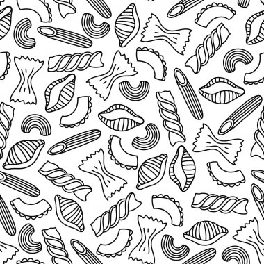 Pasta seamless pattern