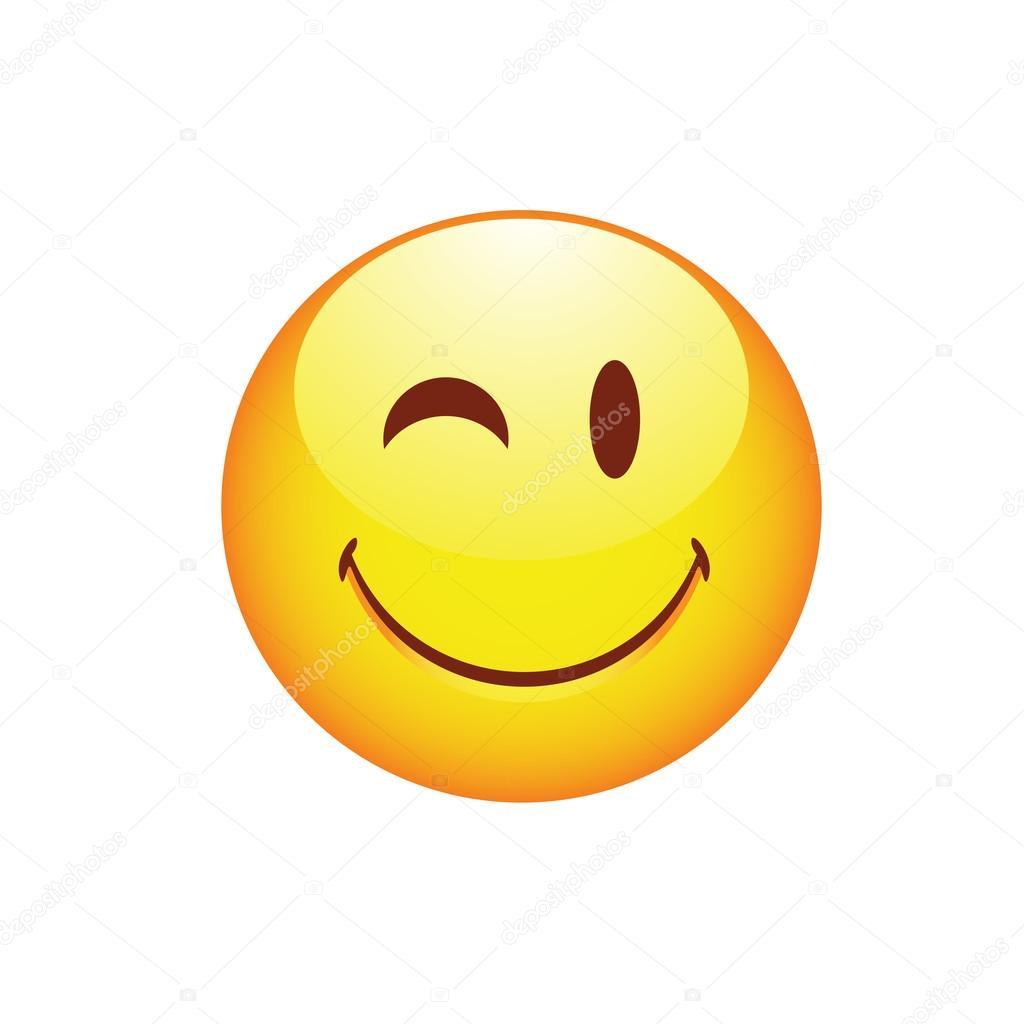 smiling smiley clin d oeil image vectorielle byvivik89. Black Bedroom Furniture Sets. Home Design Ideas
