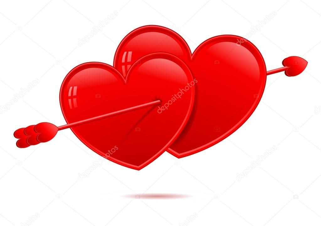 Verliebte Herzen — Stockvektor © Luseen #64286443