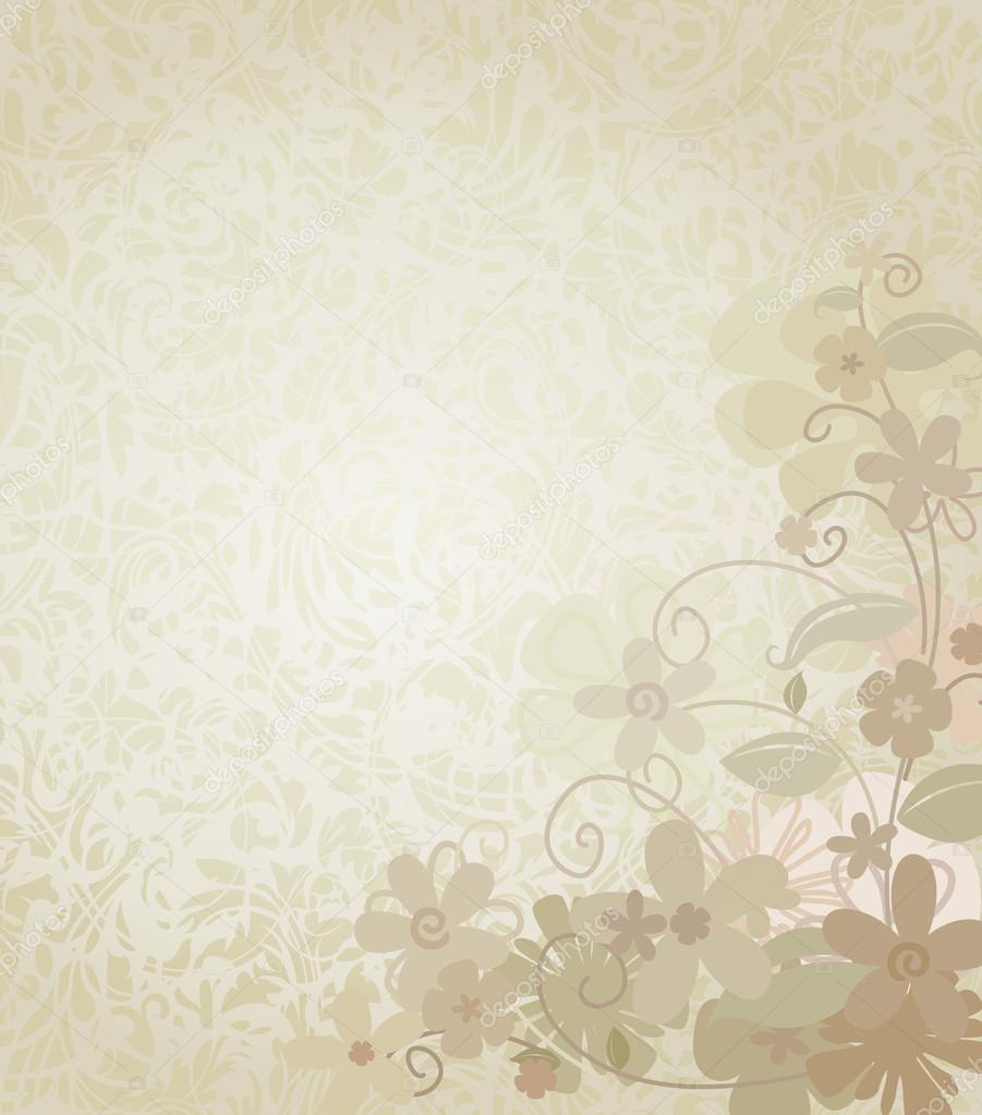 Jahrgang Hintergrund umrahmt mit Ecke Grenze Blumen — Stockvektor ...