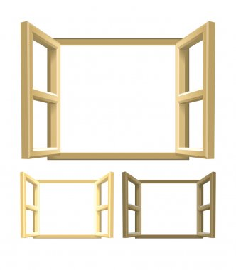 Open Wood Windows