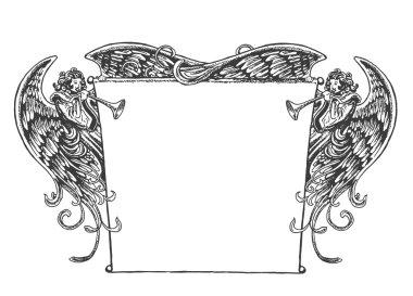 Angel Banner, Vintage Style