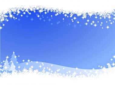 Christmas winter sky lights background