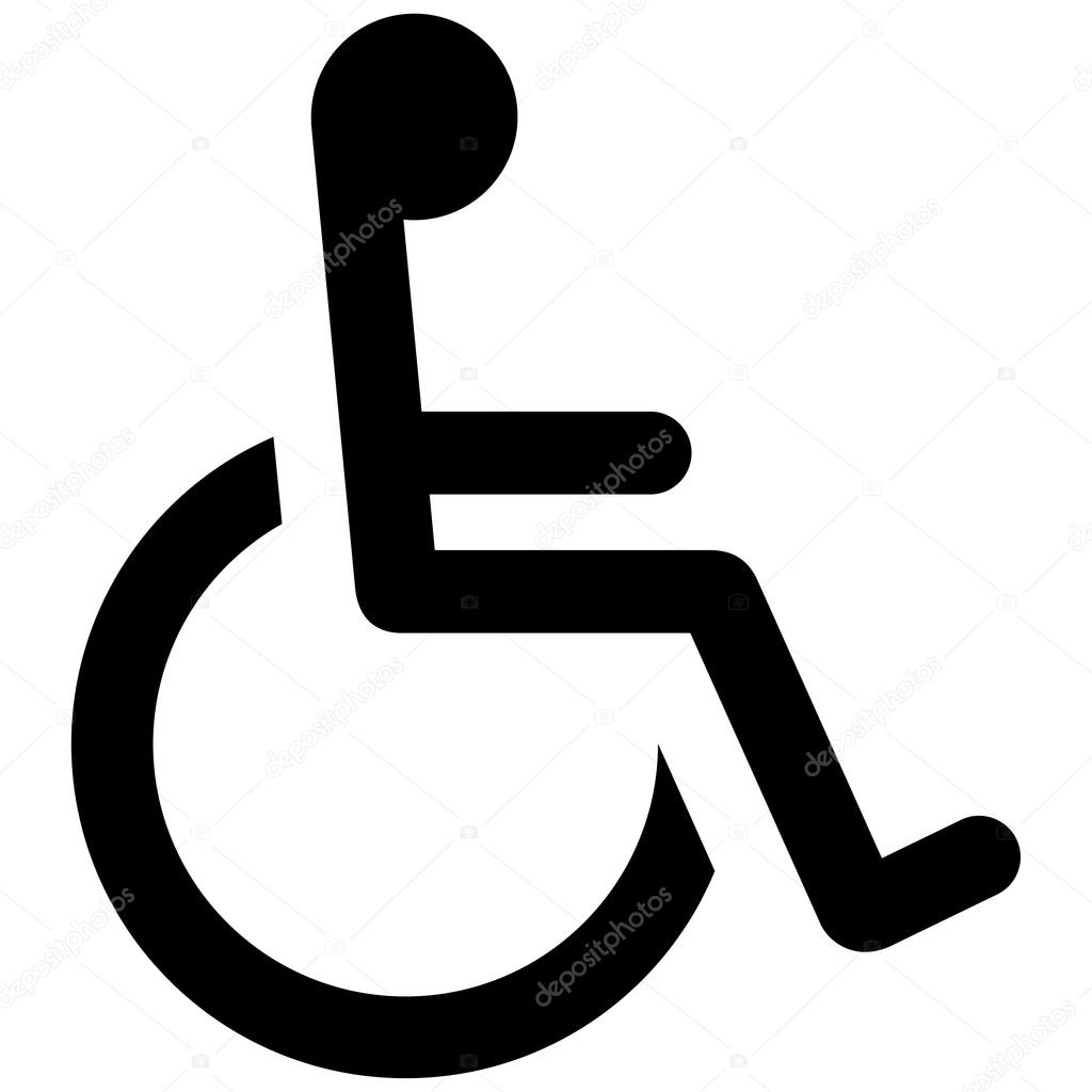 icon pictogram wheelchair physical deficient ideal for