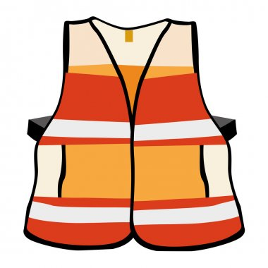 Illustration representing a reflective vest safety equipment