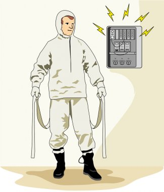 Illustration representing an insulating clothing safety equipment