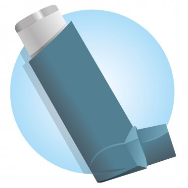 Illustration Drug inhaler for asthma and shortness and ar