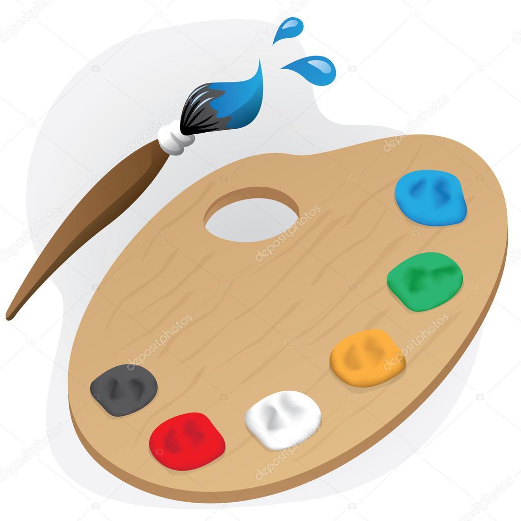 La ilustraci n es una pintura objeto material pintura - Materiales de pintura de pared ...