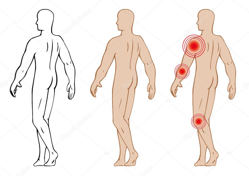 Illustration ist die Anatomie des menschlichen Körpers, die Punkte ...