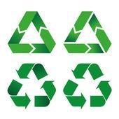 Fotografia Simbolo di riciclaggio icona illustrazione. Ideale per cataloghi, informativi e guide di riciclaggio