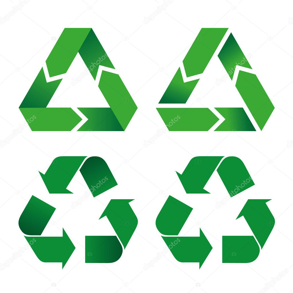 Illustration icon recycling symbol. Ideal for catalogs, informative and recycling guides.