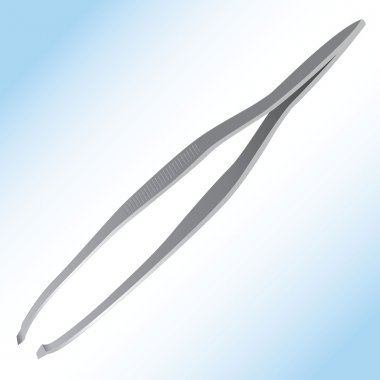 Illustration representing an object or utensil metal tweezers. Ideal for product catalog and institutional
