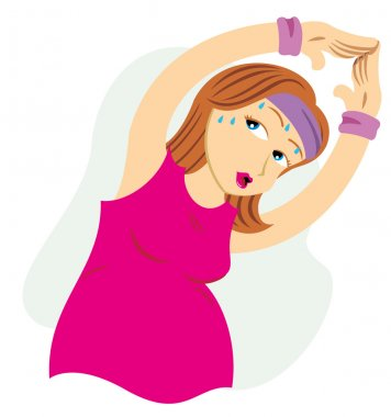 Mother pregnant woman doing physical exercises. Ideal for catalogs, informative and pregnancy guides