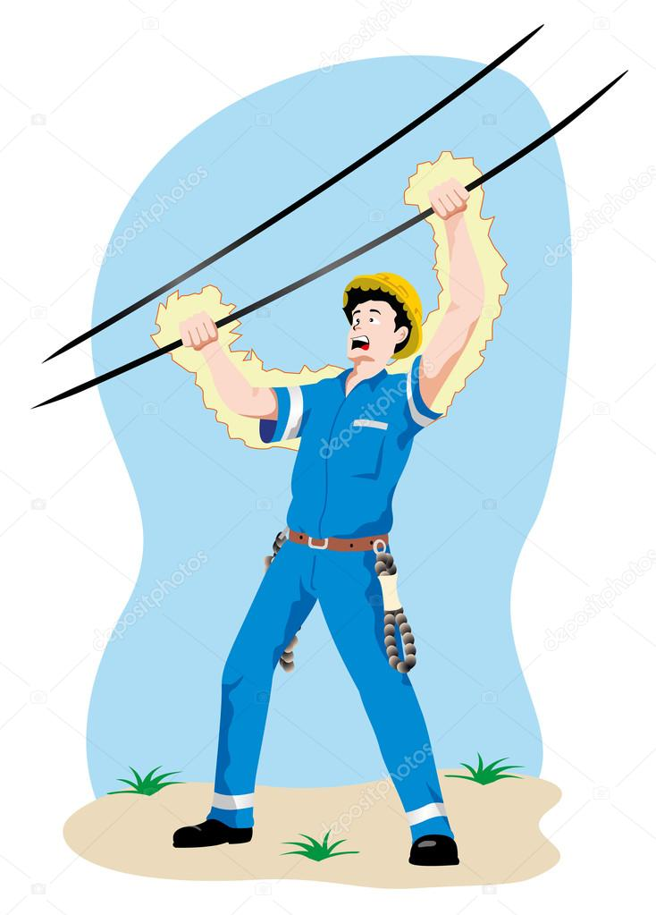 Illustration Representing A Person Being Electrocuted In