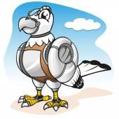 Fotografia Illustrazione di un robot di cyber uccello dellanimale domestico. Ideale per cataloghi, materiale informativo e istituzionale