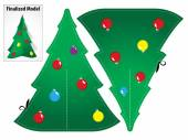 Photo Drawing a Model Paper Toy Craft a Christmas tree to mount