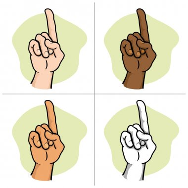 Close body, hand indicating number one African descent. Ideal for educational material and institutional