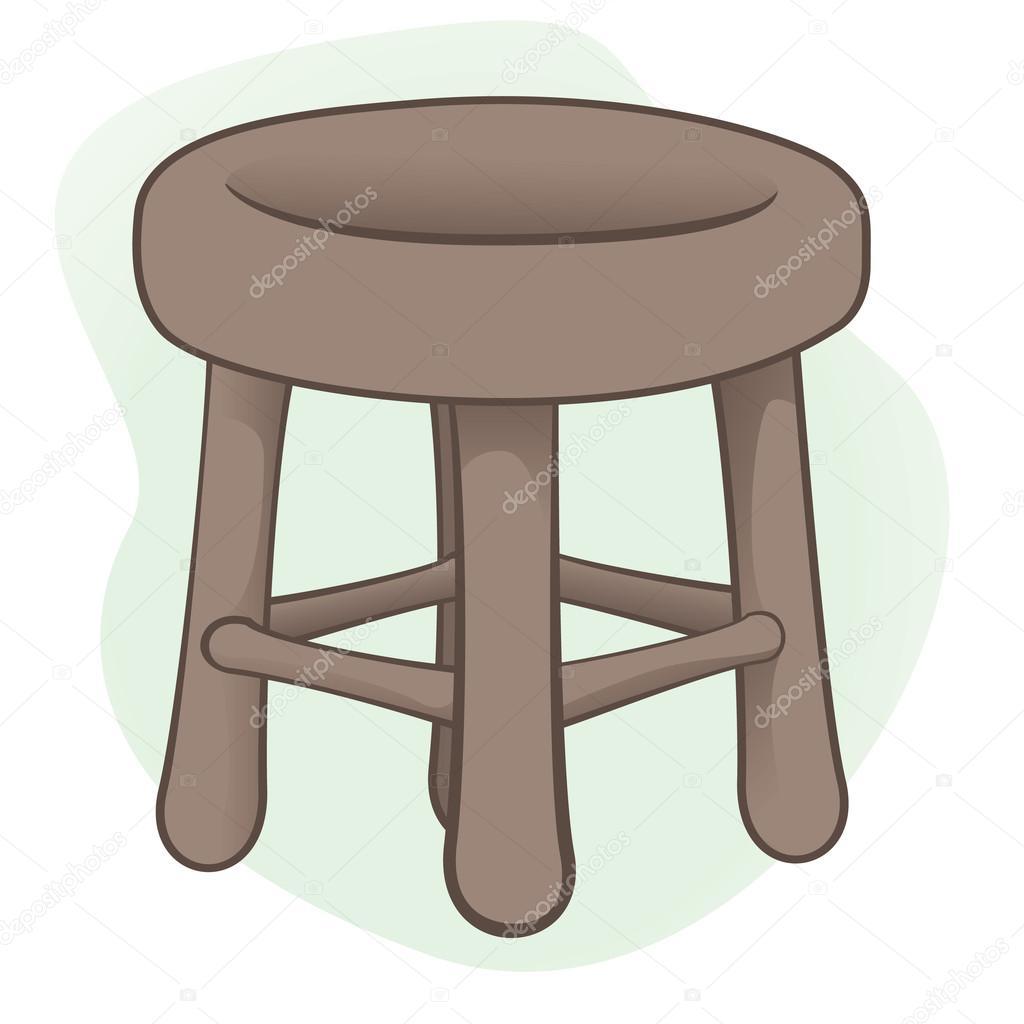 Animado dibujo de un banco para sentarse ilustraci n de un banco o una silla de madera ideal - Banco para sentarse ...