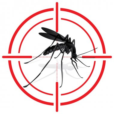 Signaling, mosquitoes with mosquito target. mira signal. Ideal for informational and institutional sanitation and related care