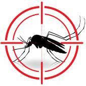 Příroda, silueta komárů s chůda cíl. památky signál. Ideální pro informační a institucionální související hygieny a péče o