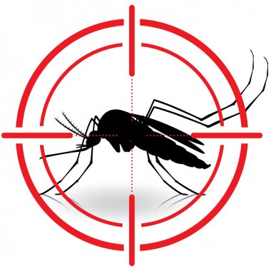 Nature, silhouette mosquitoes with stilt target. sights signal. Ideal for informational and institutional related sanitation and care