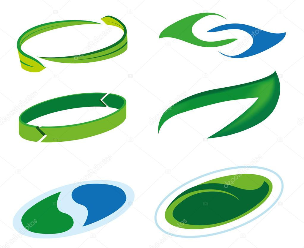 Icon or symbol of sustainability, green leaf and balance in water drop. Ideal for informational and institutional related ecology and environment
