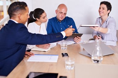 business partners in conference room