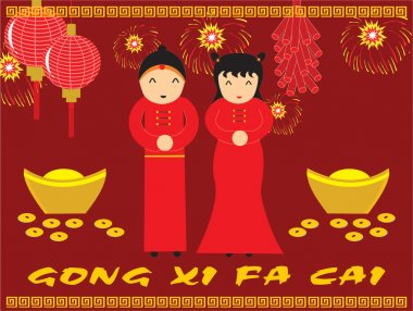 Happy chinese gong xi fa cai