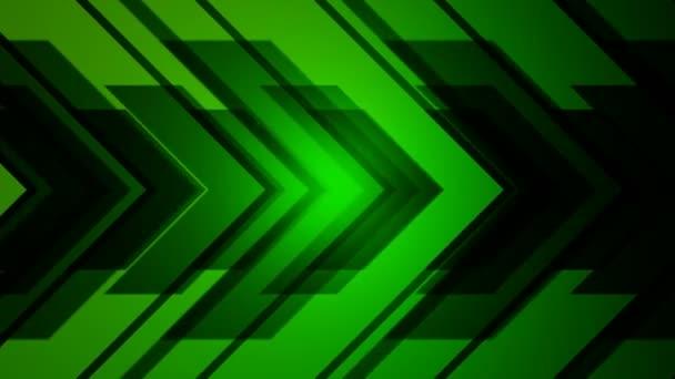 Abstract green arrow.
