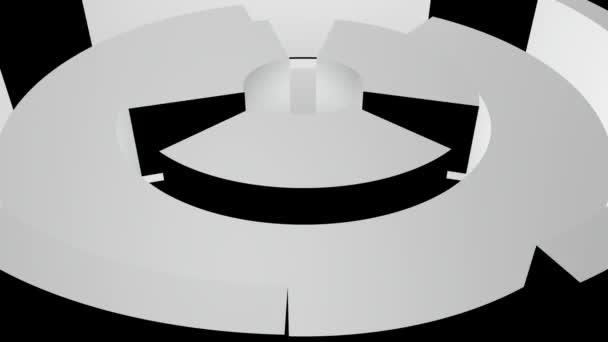 Abstraktní šedá trubice rotace