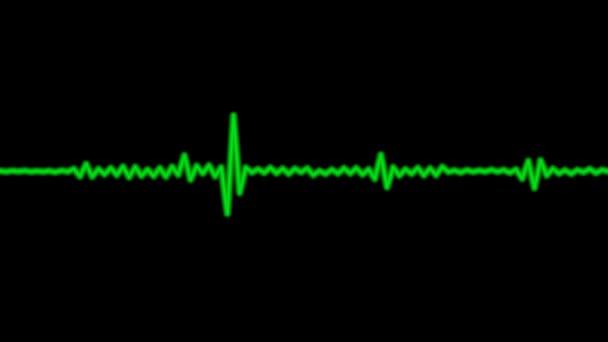 Grüne Audiowelle bewegt sich