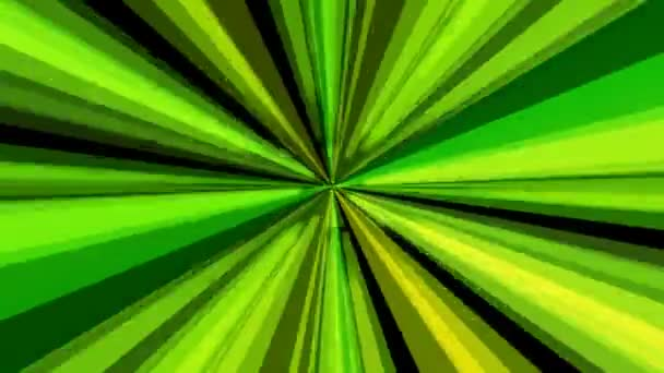 Colorful green rays