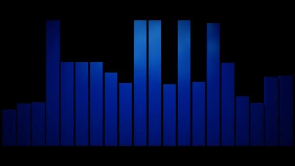 Riproduzione di livello audio blu