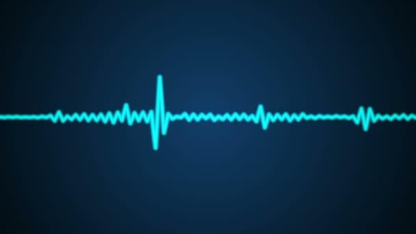Mozgó kék hang hullám