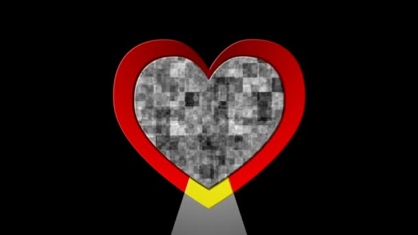 symbol barevné srdce