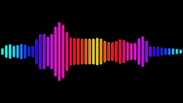 bewegte bunte digitale Audio-Welle
