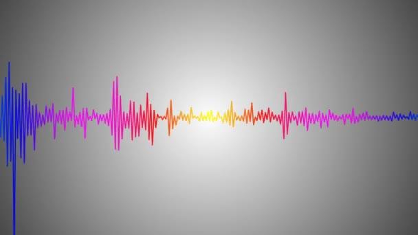 Pohybující se barevné audio vlna
