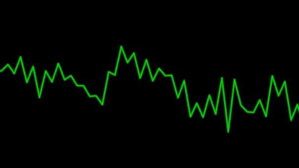 bewegte grüne Audiografik
