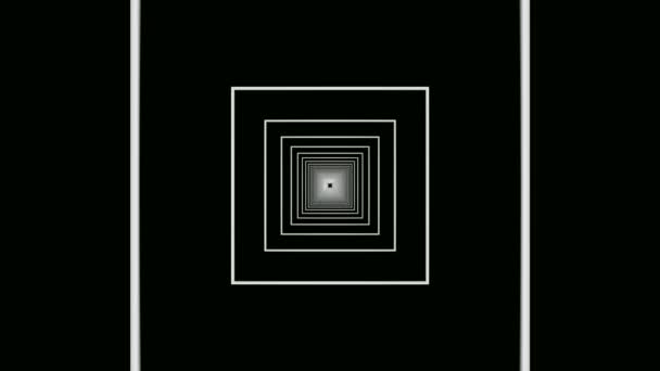 Moving square frames tunnel