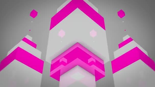 Mozgó fényes rózsaszín doboz