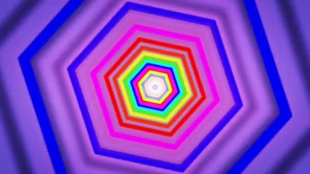 Pohyblivé duhy šestiúhelníky