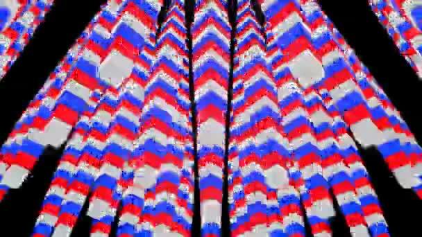 Pohybující se barevné kostky