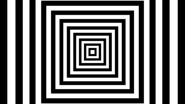 pohybující se černé a bílé čtverce