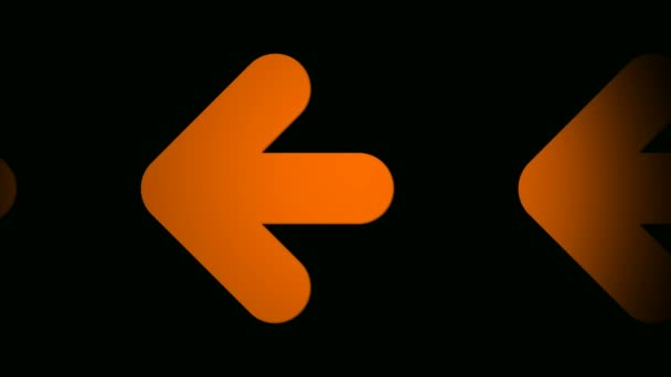 Moving orange arrow icons
